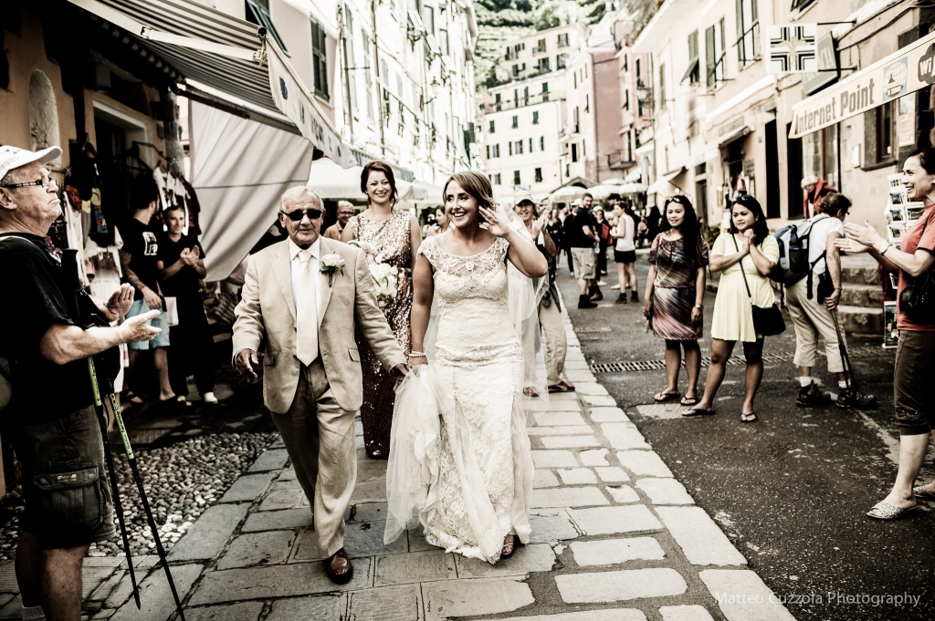 Walking in Vernazza - Cinque Terre Wedding