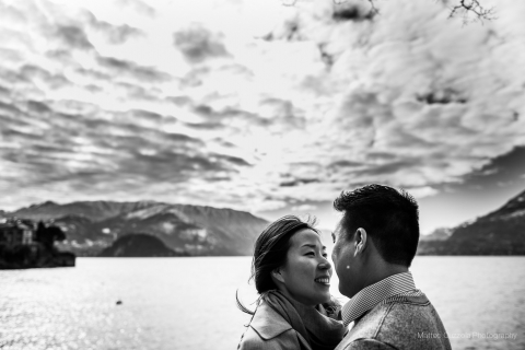 Engagement session in Lake Como