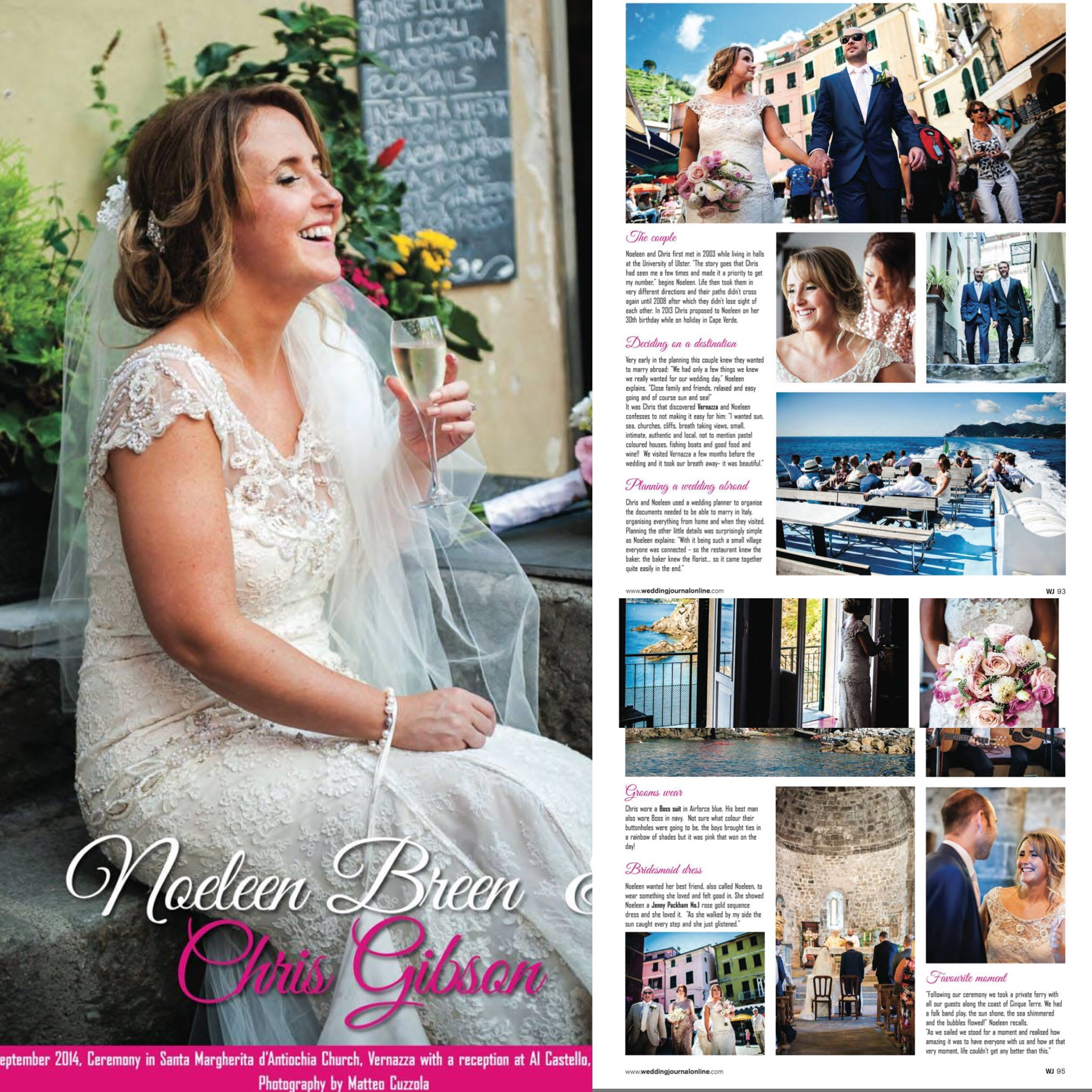 Featured on international wedding journal