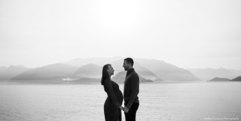 pregnant engagement lake como