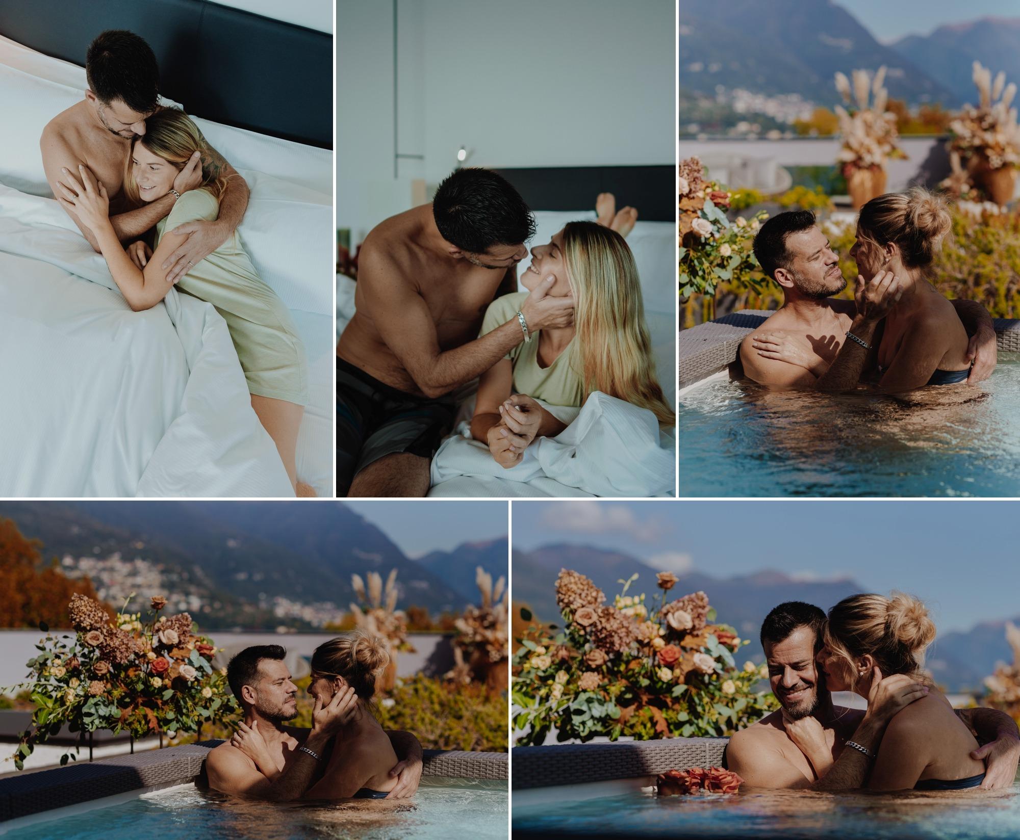 elopement vows renewal hilton lake como